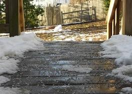 ice melt on walk