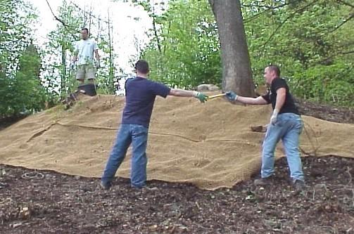 coir mat in landscape